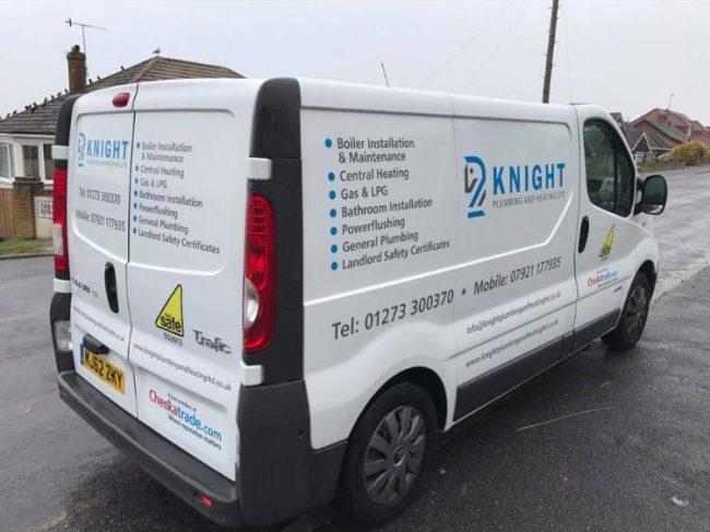 Knight Plumbing van